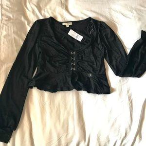 Ruffled Hook Closure blouse